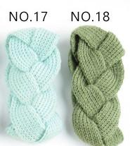 herbe vert mazarine élastique à tricoter bande de cheveux à la main de laine fil bandeau accessoires pour chaud automne et d'hiver Cheveux Bandes