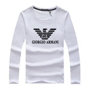 Magliette da uomo Designer T-Shrit manica lunga Taglie forti T-shirt 100% cotone Uomo Moda Sport Coccer Ball Wear Casual Tee CXAM
