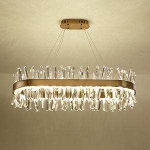 Pendente moderna dell'oro lungo di cristallo del metallo LED Lamp Hotel del salone della casa del lampadario a bracci Art LightingPA0606