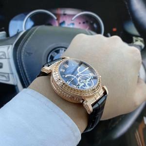 P-أعلى الساعات العلامة التجارية الفاخرة توربيون الميكانيكية ساعات اليد التلقائية الرجال الساعات تاريخ اليوم الهاتفي الماس للرجال rejoles هدية الجودة