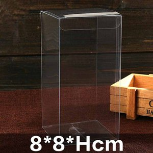 2018 hot sale new Pvc box 20pcs / lot gift clear packaging box / plastic container / retail chocolate box candy
