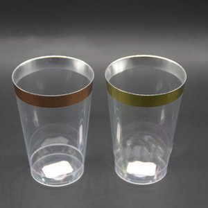 Disposable Plastic Mini Cups transparent cups party cups P.S plastic Restaurant cup 10oz Coffee tea cup beer sheer stylish hot selling 0099