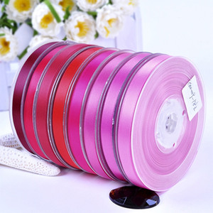9mm Width 100Yards Double Faced Satin Ribbons for Wedding Christmas Party Decorations DIY Bow Craft Ribbons Card Gifts for Baby Girls