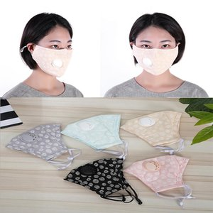Washable cotton cloth mask pure color round dot mask Dust and haze prevention Breathing valve  mask da481