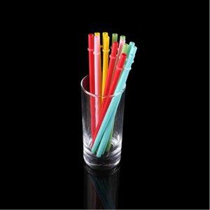9 بوصة من القش البلاستيك الملونة يصلح للمشروبات العصائر ميكي الشاي أنابيب الشفط المتاح PP القش أنبوب tubularis