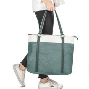 HBP 어깨 가방 유럽 유행 남성과 여성의 패션 캔버스 휴대용 = 대용량 녹색