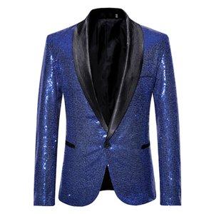 Mens Designer Blazers Stylish Host Sequin Dance Clothes Men Designer Dress Suits Groom Wedding Suits Slim Tuxedos Prom Dinner Suits Jacket