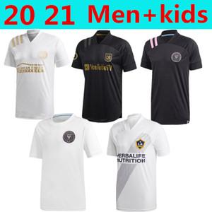 2021 homens + kidsLAFC Carlos Vela de Futebol Los Angeles FC LA Galaxy Chicharito Inter Miami Beckham Preto Atlanta United camisas de futebol