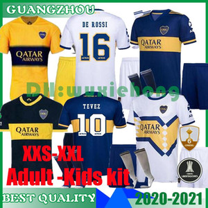 2020 2021 Boca Juniors Home Adult and kids kit футбол Джерси униформа мужская Де Росси футбол Джерси Кардона Гаго Тевес футбольные шорты+носки