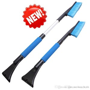 Wholesale- 70-85cm Car vehicle Snow Ice Scraper Winter Car Clean Snow Brush Shovel Removal Brush Winter Top Quality ABS Car-Styling Nov 19