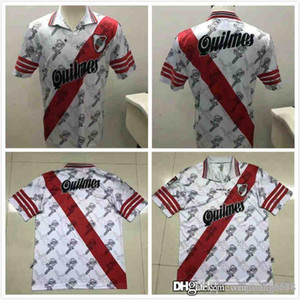 best retro RIVER PLATE 1996 Francescoli Salas CRESPO vintage CUSTOMIZED uniform kits soccer jerseys thailand quality football shirts kit