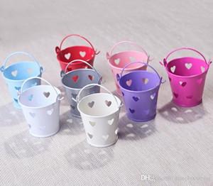1 satz = 8 verschiedene farbe kreative kreative hohl herzförmige fässer süßigkeiten box bunte blumentöpfe süßigkeiten box beste hochzeitsdekoration