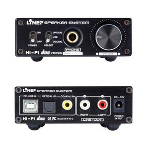 fibra de alta fidelidad auricular USB coaxial de audio digital DAC decodificador de sonido USB de fibra coaxial tarjeta de alta impedancia de entrada del receptor de cabeza A936