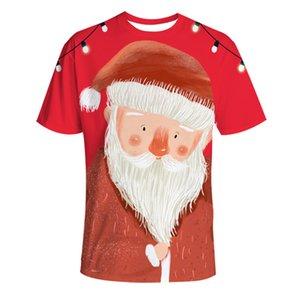 Fashion Christmas 3D T-Shirts drucken Tiere Katzen Männer Frauen T-Shirt Anime-Kurzschluss-Hülsen-T-Shirts O-Ansatz Tops T-Shirt Karikatur 140 XMAS Geschenk