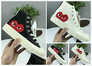 1970 년대 화이트 캔버스 스케이트 신발 원본 클래식 1970 캔버스 신발 공동으로 이름 CDG 놀이 큰 눈을 미끄럼 방지 스포츠 캐주얼 스니커즈 EUR36-44