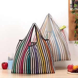 2019 New Lady Foldable Recycle Shopping Bag Eco Reutilizable Shopping Tote Bag Cartoon Floral Fruit Vegetable Grocery