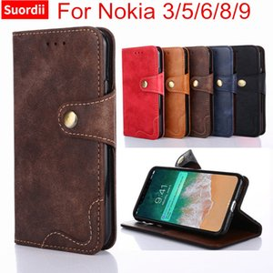 Luxus case für nokia 3 5 6 8 9 abdeckung flip nieten leder buch stil brieftasche case mit ständer für nokia 3 handytasche fällen