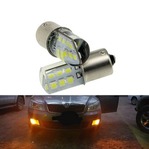 2x P21W ba15s 1156 bay15d 1157 Voiture LED Ampoule Signal Signal 12V Auto Reverse Frein De Stationnement Flog Lampes Blanc DRL 12smd Blanc