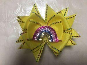 "20 Fille 4.5"" Shine papillon cheveux Bow strass RainbowSurprise Doll"