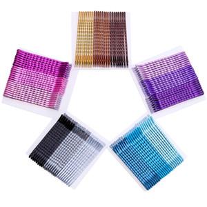24 pcs Color Clip Hairpin Básico Naturalmente Bela Pintura Grampos de Cabelo para As Mulheres Meninas Acessórios Para o Cabelo de Metal Barrette Headwear 5 cm