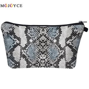 Moda 3D Digital Snake Print Cosmetic Bag Clutch Impermeable Mujer Money Phone Pouch Ladies Makeup Storage Bags