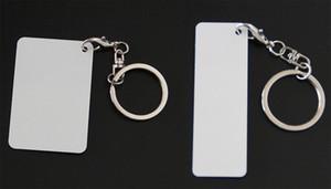 Chapa de alumínio de dois lados de metal Chaveiro em branco sublimação printable chave chians 10 peças / lote