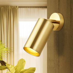 Nordic light luxury brass spotlight LED lámpara de techo sala de estar fondo tienda de ropa pasillo GU10 85-265V-I23