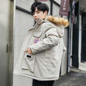 Одежда человек свободные пальто зима 2019 тенденция зима утолщение хлопок-ватник одежда работа вниз хлопок
