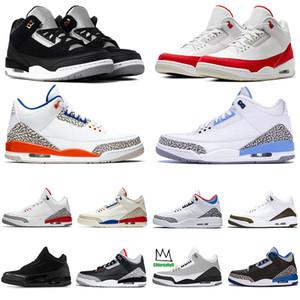 2020 Nike Air Retro Jordan 3M TINKER SP SİYAH ÇİMENTO JSP 3 Knicks 3s Uçuş Erkek Spor Spor Ayakkabılar Of Jumpman Erkekler Basketbol Ayakkabı UNC PE Mocha İl Rakipler