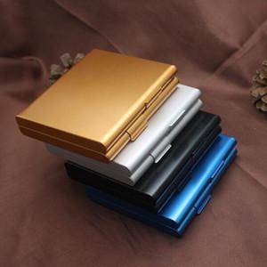 New Meta Cigarette Case (Hold 20 Cigarettes) Портативные сигареты Упаковка Алюминиевый портсигар Табакодержатель Box для мужчин и женщин