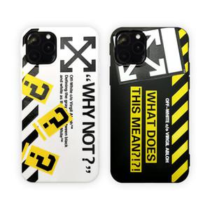 Hot Off Stripes Graffiti-Telefon-Kasten für iPhone 11 Pro max x xs max xr iphone11 Pro 7 8 Plus Schwarz Weiß TPU Abdeckung Pfeil Shell