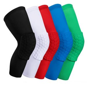 Mens Running Tute Honeycomb Safety Sock Basket Sport Ginocchiere imbottito Ginocchio Brace Compressione Manicotto protezione ginocchio Knee Pad XZT045G