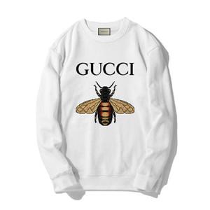 GUCCI Nuovo Hoodie Hip Hop Lettera Stampa felpate Uomini Pullover Streetwear Designe con cappuccio Bianco Rosa Grigio # 56189