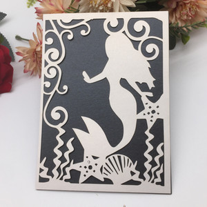 Carte dell'invito del modello della sirenetta dolce con la cerimonia nuziale della doccia adulta della cerimonia nuziale della sposa e della bestia