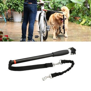 Pet Dog Bike Leashes Outdoor Bike Exercise Walk Run Hands Free Dog Leash Pet Supplies Accessory Stainless Steel Elastic