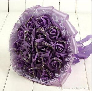 Köpük Gül Düğün Gelin Buketler El Çiçek Yapay Gül Kristaller Düğün Malzemeleri Gelin Holding Çiçek Broş Buket CPA1595