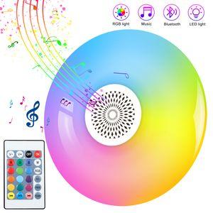 Smart LED E27 RVB Blanc Haut-parleur Bluetooth Ampoule LED Lecture de musique sans fil Dimmable Led lampe avec 24 touches télécommande