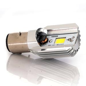 2 X 오토바이 하이 / 소호 헤드 라이트 전구 H6 BA20D DC 6V-80V 8W 6500K COB LED 흰색 오토바이 라이트 어셈블리
