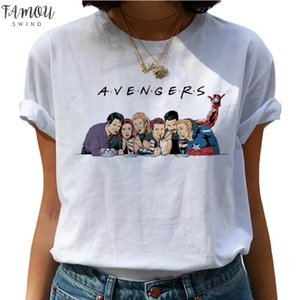 Friends Tv Modal Shows Harajuku T Shirts Women Funny Avengers Cartoon T Shirts Best Friends 90S Tshirt Fashion Graphic Top Tees Female