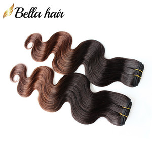 Ombre Hair Bundles 1b #4 Malaysian Virgin Human Hair Wefts Weaves Body Wave Dip Dye Two Tone 2or3or4 Bundles Lot Bellahair