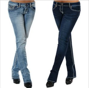 2019 new fashion women's jeans Water-washing process of stretch embroidered jeans in Europe and America jeans