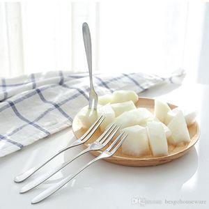 Haushalt Geschirr Dessert Gabeln Edelstahl Dessert Kuchen Frucht-Gabel-Spiegel-Design verdicken Hotel-Küche glatten Griff Gabeln BH1243 TQQ