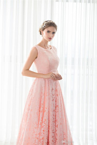 Lady Evening Gowns Big Girls Pageant Celebrity Red Carpaet Catwalk Special Occasion Pink Lace 2019 Christmas Prom Party Dresses Long Women