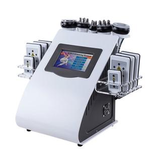 Chegada nova 6 em 1 40K Cavitação Ultrassônica Vácuo Rádio Frequência Laser 8 Pads Lipo Laser Slimming Máquina para uso em casa 6 Pedidos