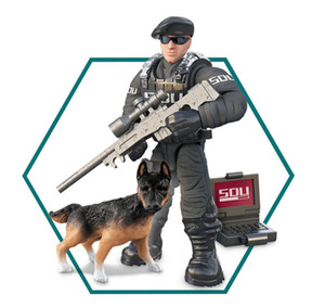 Assembling military soldiers, people, mini dolls, building blocks, puzzle models, toys, compatible with various building blocks