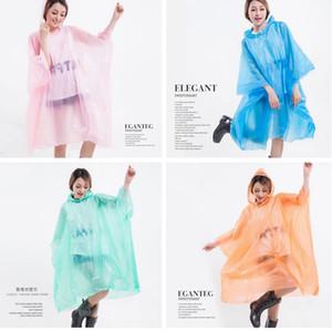 PEVA Raincoats não descartáveis espessamento coat casaco chuva E-Friendly poncho impermeável LJJA3839 Favor Outdoor Viagem longa Rainwear partido