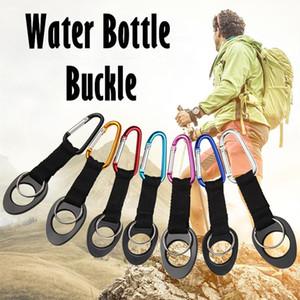 Water Bottle clip fibbia gancio di gancio della chiusura in gomma ad alta elasticità Solidamente Per viaggio di campeggio moschettone Multicolor NNA75 escursionismo