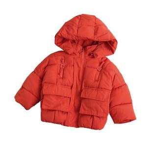 Yeni Bebek Kız Pamuk-yastıklı Ceket Kaban Çocuk Dış Giyim Kapşonlu Ceket Çocuk Kışlık Mont W315
