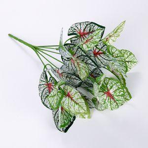 Foglie di hitom di plastica della pianta artificiale della begonia Pianta dell'albero per la decorazione domestica