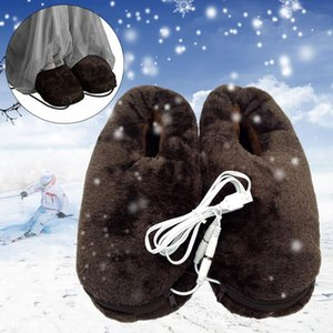 Home USB Soft Cold Relief Electric Feet Warmer Practical Portable Heated Slipper Gift Reliable Winter Pad Heating Shoes